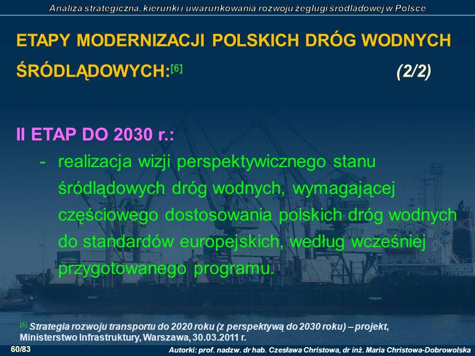 ETAPY MODERNIZACJI POLSKICH DRÓG WODNYCH ŚRÓDLĄDOWYCH:[6] (2/2)